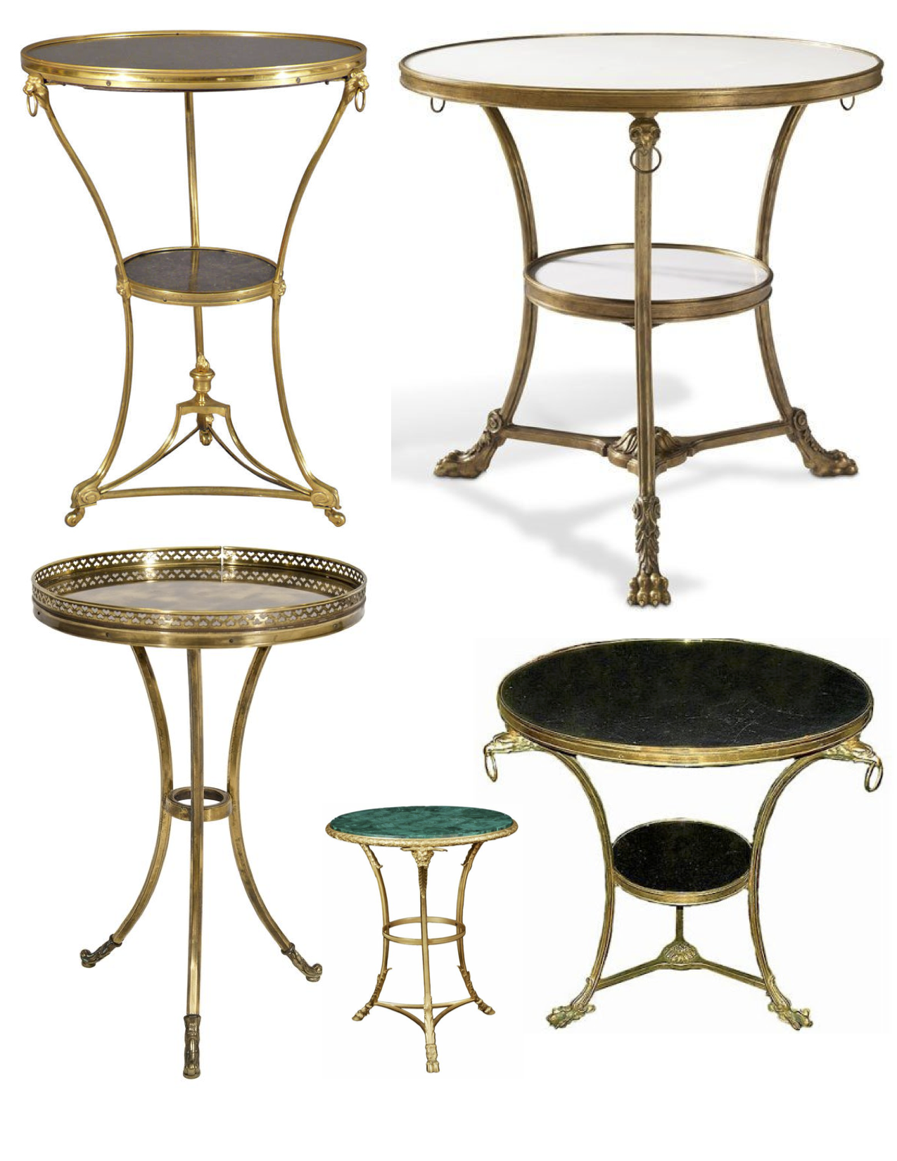 Interpretations of french form the petite versatile for Table gueridon