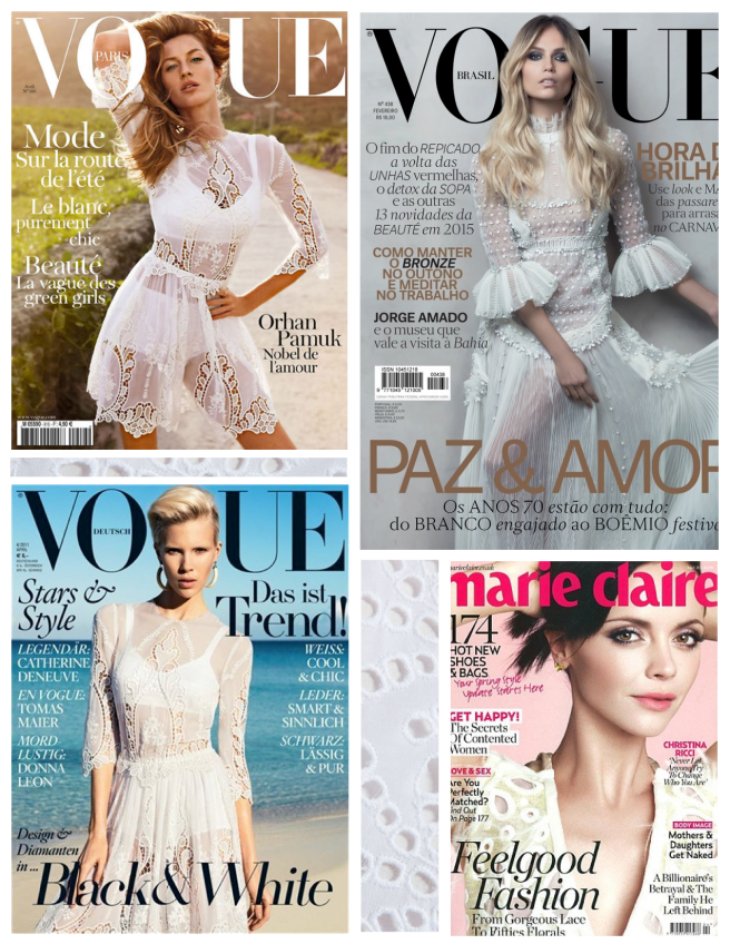 Covers Of Fashion Layered In White Eyelet