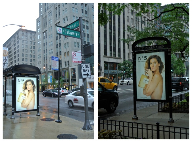 Fashion's Visual On The City Streets:  Michigan Avenue/Chicago