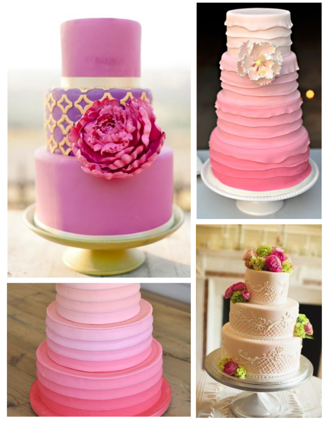 Pink, Vibrant Delights Of Sugary Confections: Fondant Cakes