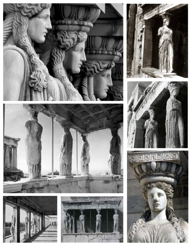 Ancient Architectural Form & Function:   Caryatids