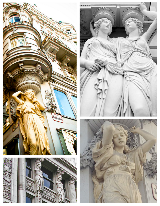 Architectural Interpretations Of Ancient Form:  Caryatids