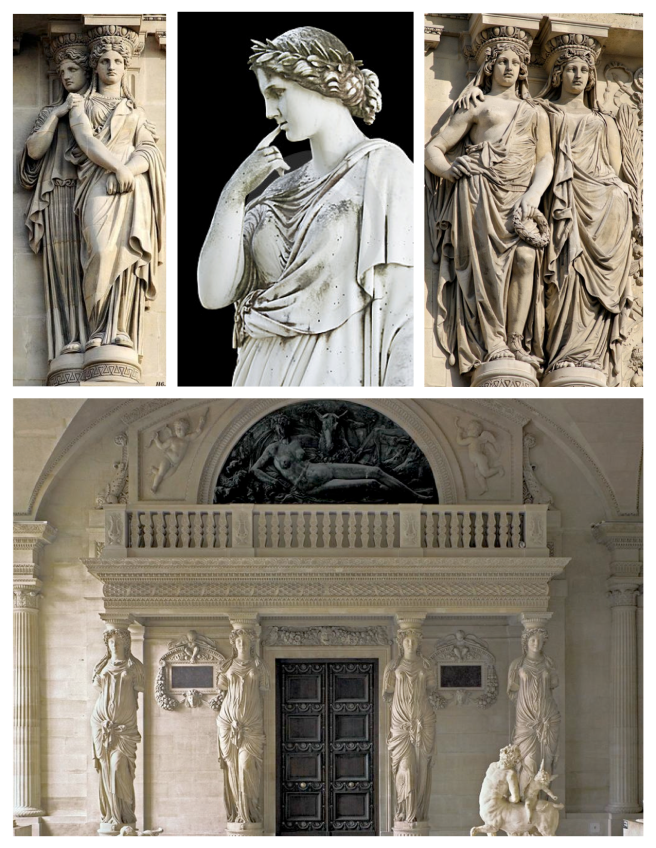 Ancient Forms Enduring In Architectural Appeal:  Caryatids