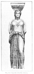 Ancient Form:  The Caryatid Of The  Erechtheion