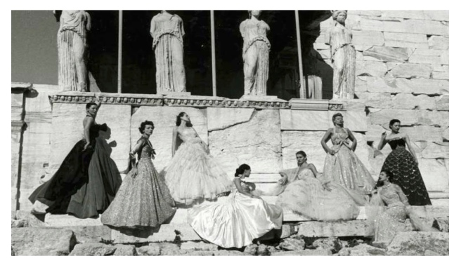 Christian Dior Models & Caryatids: Fashion's Form & Function