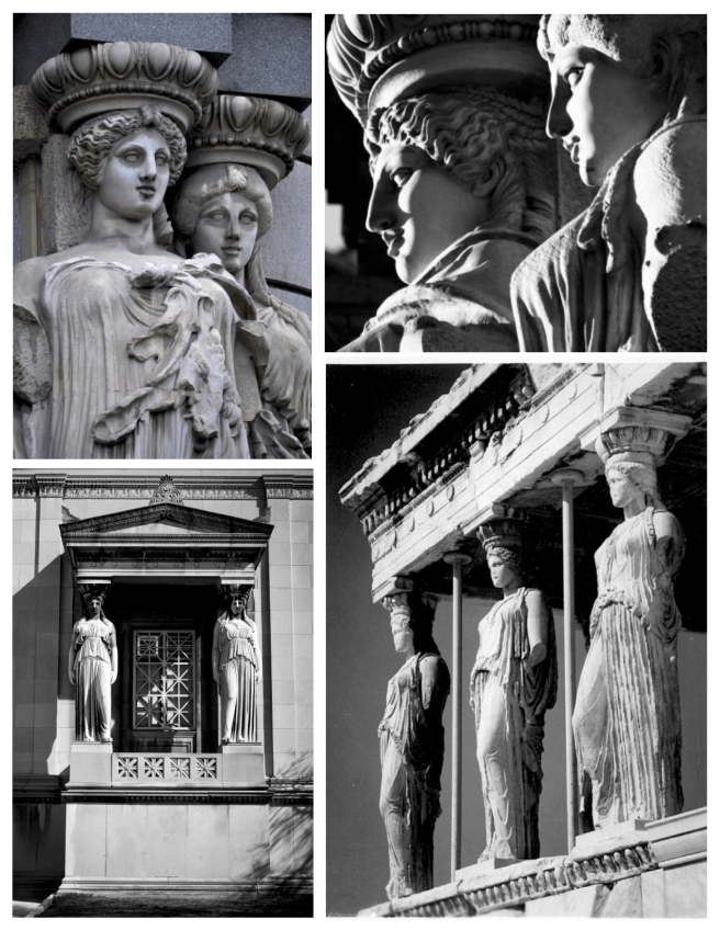 Draped Figures Of Ancient Appeal:  Caryatid