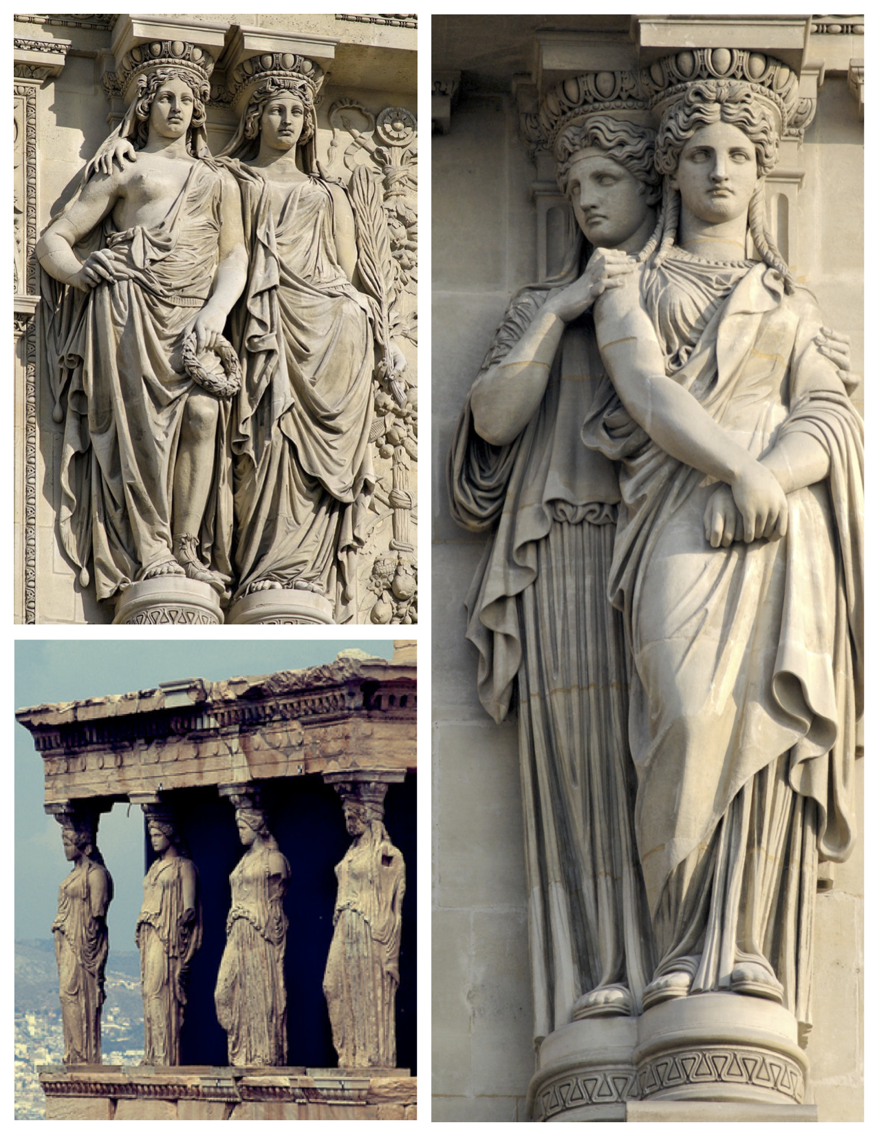 forms of antiquity the architectural caryatid the female form