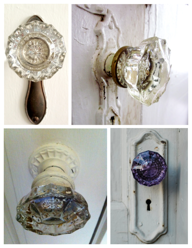 Pressed Molten Glass Of Clear Delight: The Vintage Door Knob