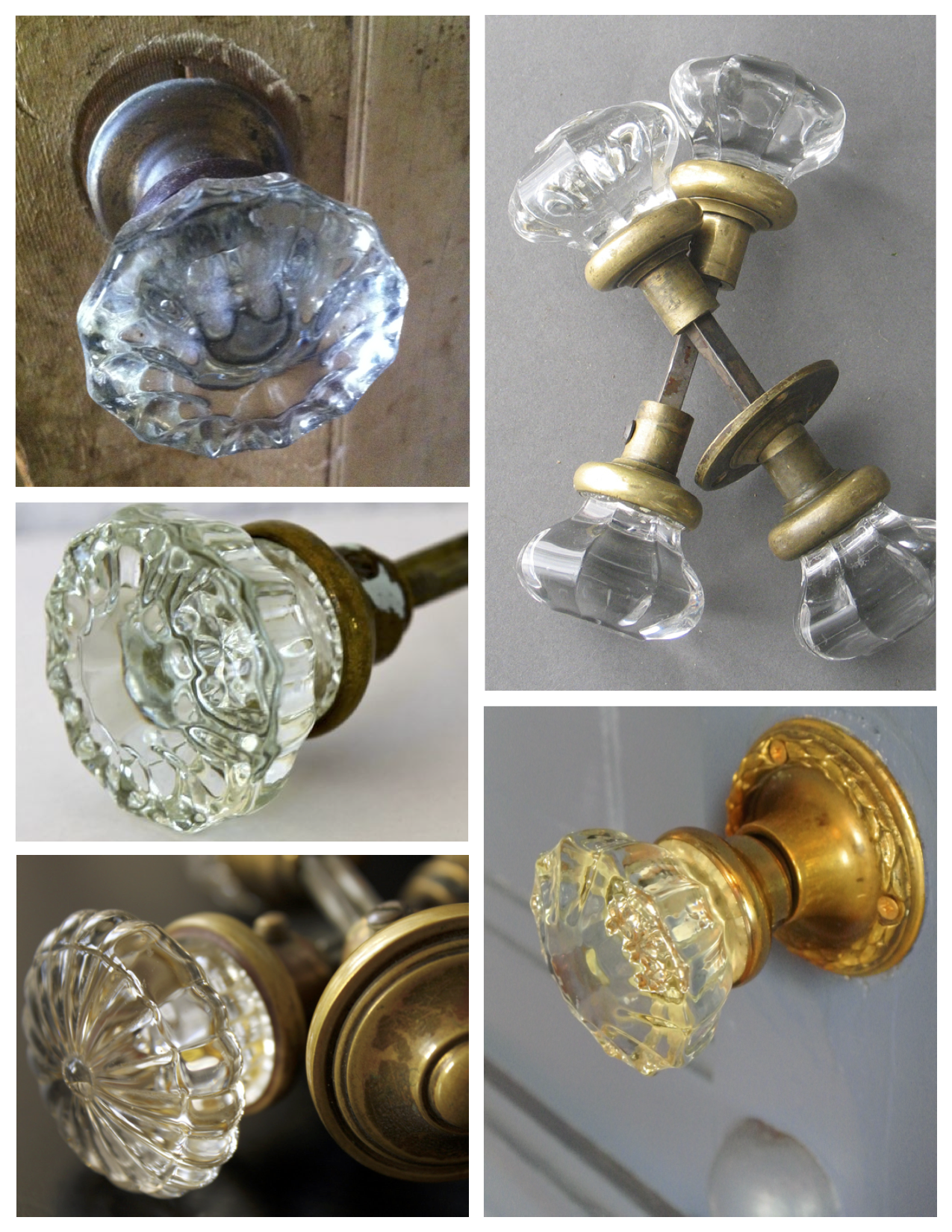 Multifaceted Style In Clear Glass The Vintage Door Knob