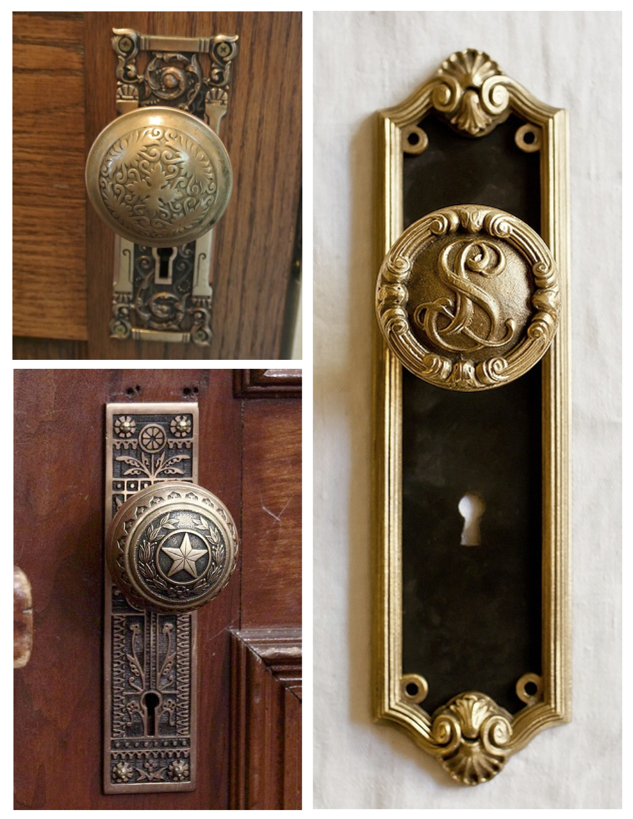 delights the elegance of the vintage door knob