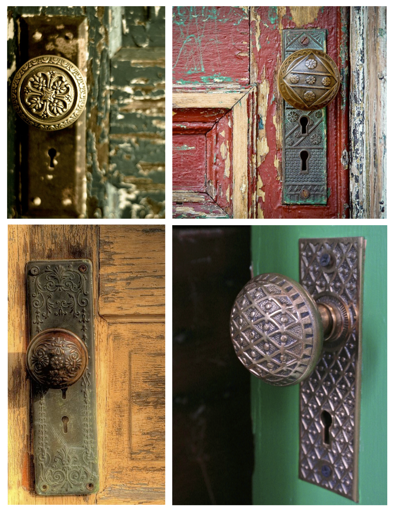 unique beauty of surface appeal vintage door knobs