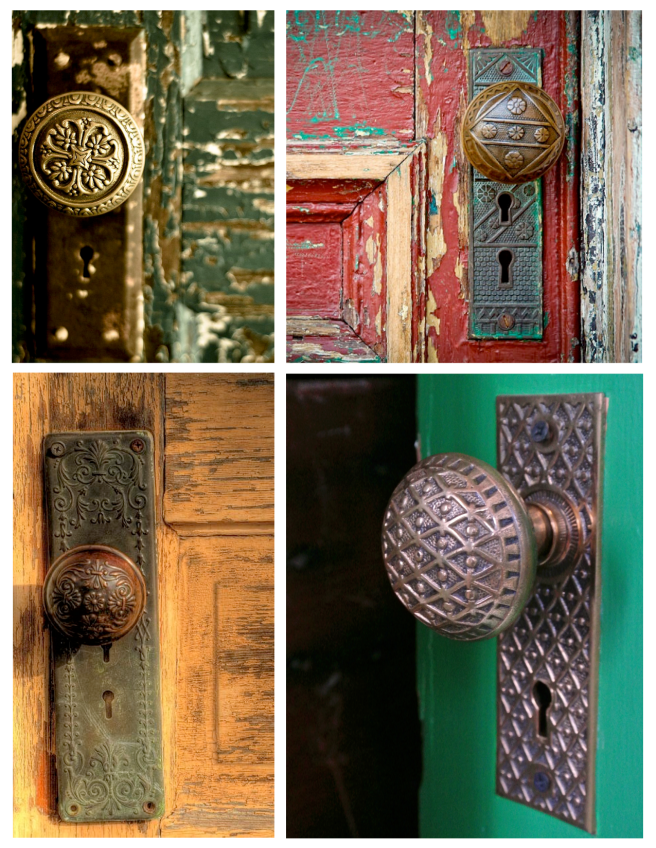 Unique Beauty Of Surface Appeal:  Vintage Door Knobs