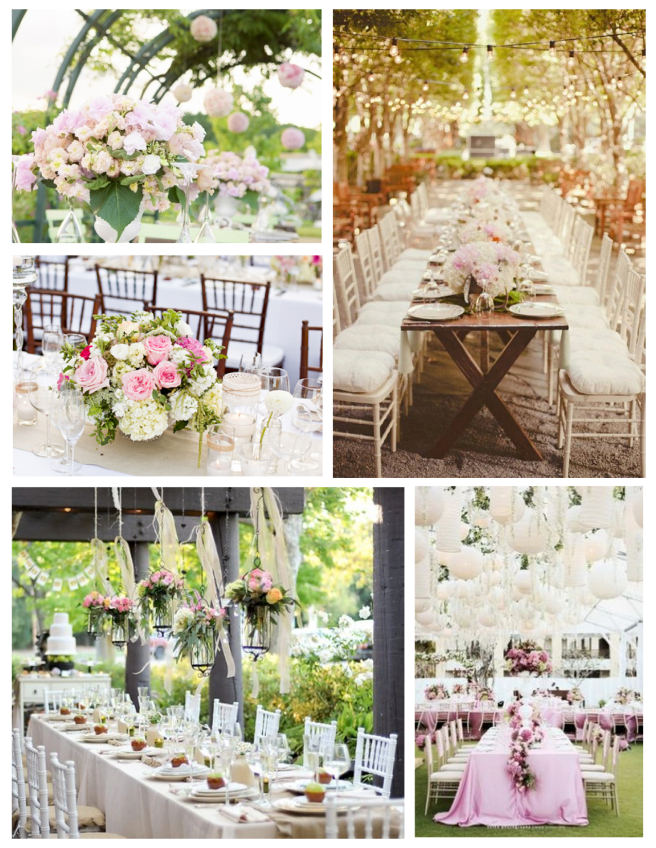 Soft Hues Of Beauty:  The Elegant Outdoor Wedding Reception