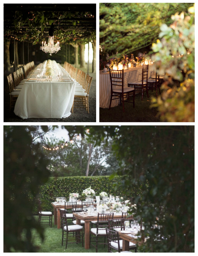 Evening Elegance:  The Outdoor Wedding Reception