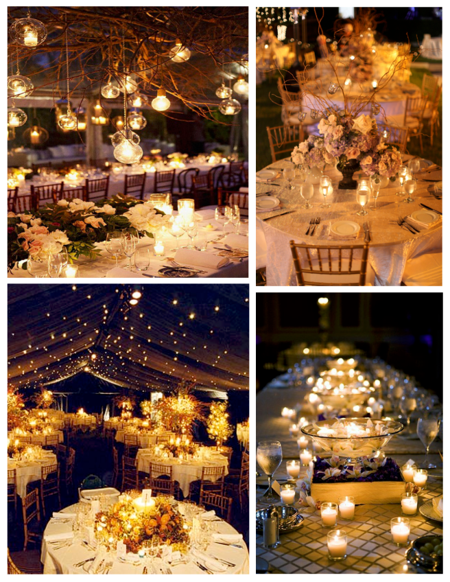 Candlelit Delight:  The Wedded Delight Of Outdoor Receptions