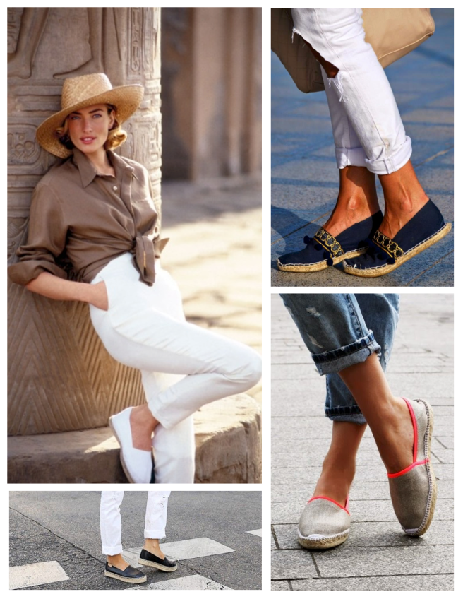 Summer Style Paired With Natural Jute & Canvas:  Espadrilles