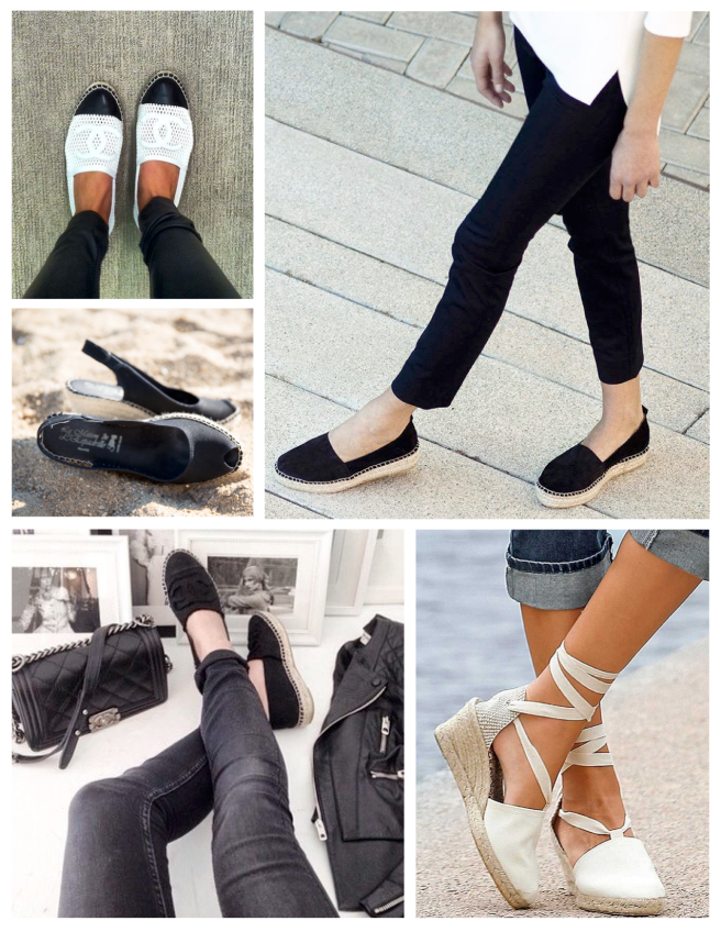Timeless Black & White:  Summer Espadrille Classics