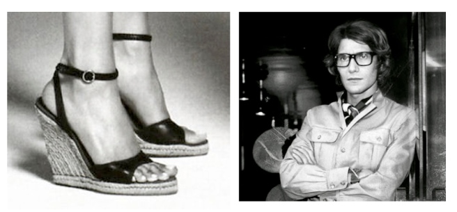 Yves Saint Laurent's Iconic 1970's Stacked Espadrille