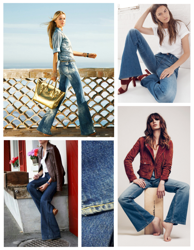 Timeless Denim With Modern Appeal:  Flared Jeans