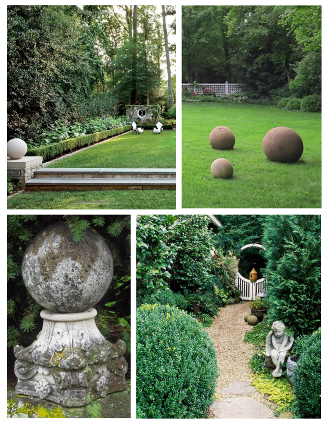 Round Spheres Of Solid Form:  Visual Interest Within The Exterior World