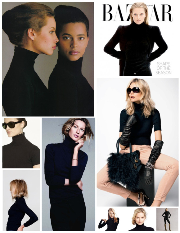 A HIGH COLLARED FASHION CLASSIC: THE ICONIC BLACK TURTLENECK