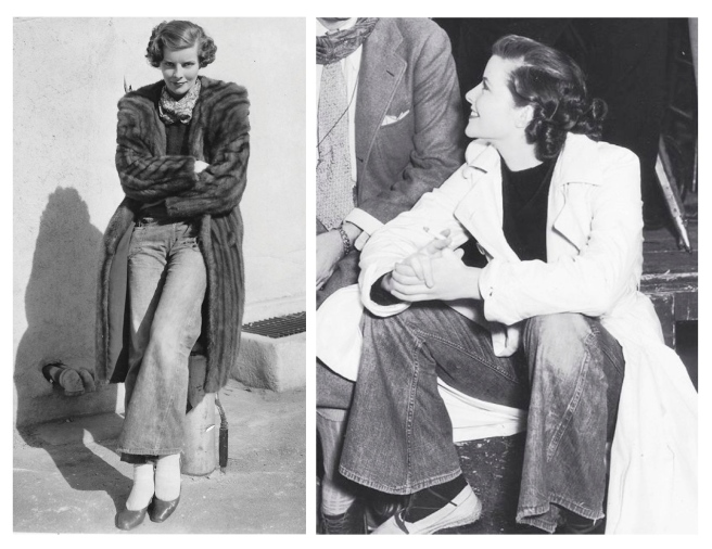Katherine Hepburn: Classic & Timeless In Denim Flares/1932