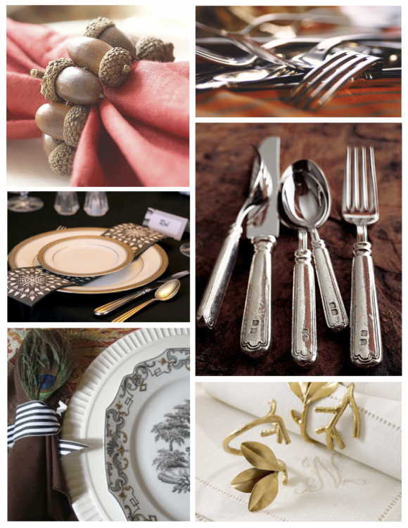 Table Top Display:  Thanksgiving Inspirations & Embellishments Of Style