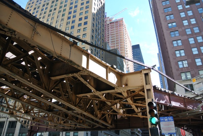 Chicago Loop:  Elevated Train Tracks