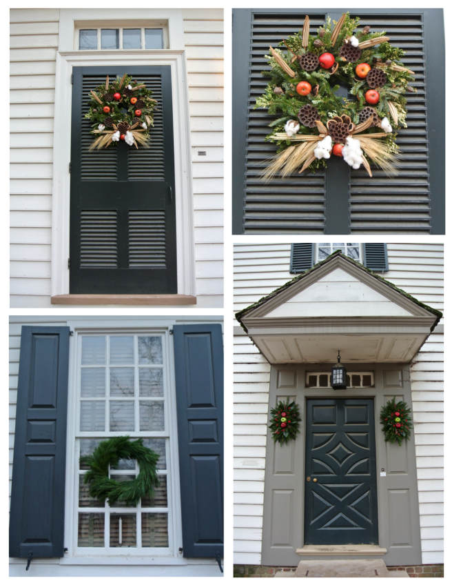 Elegant & Artistic Display:  The Wreaths Of Colonial Williamsburg