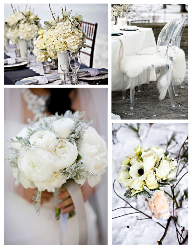 Hues Of Winter White:  Wedding Style