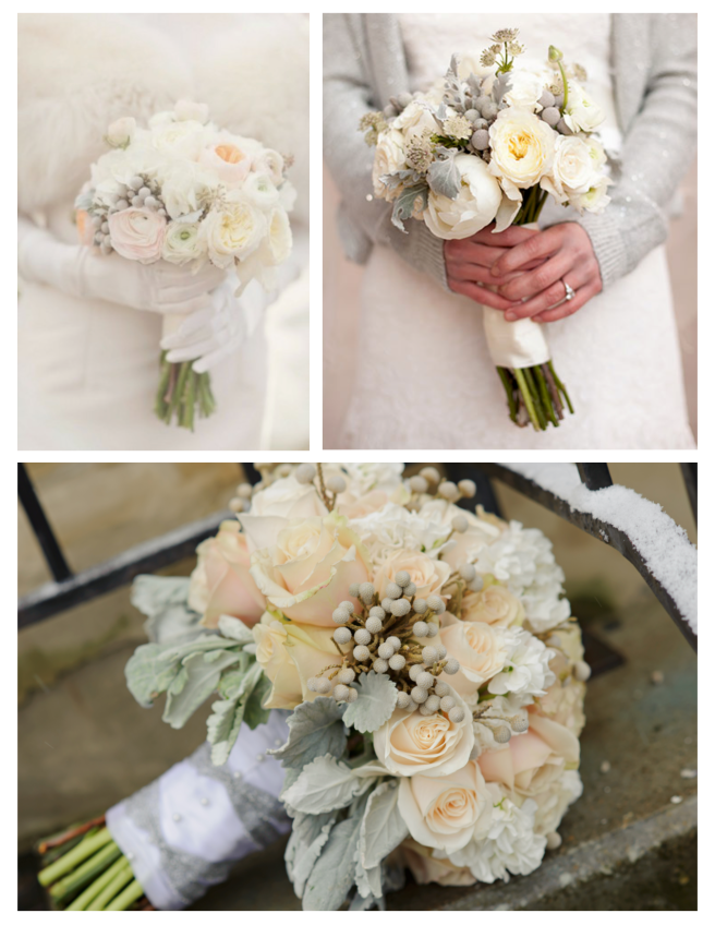 Wedding Bouquets bedecked With Winter White Appeal