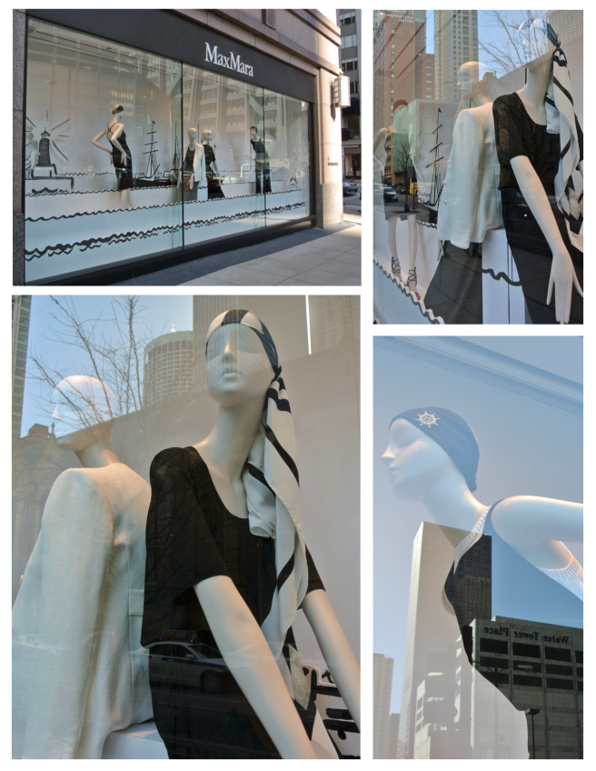 Lake Breezes Off Michigan Avenue's Windows Of  Max Mara