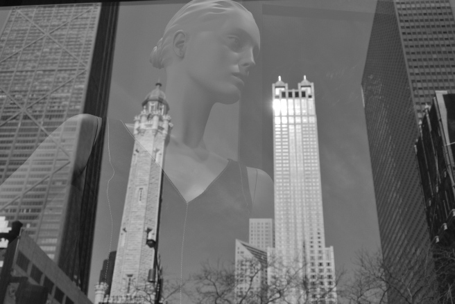 Fashion's Form & Architectural Reflections:  Chicago In February/Ralph Lauren/Michigan Avenue