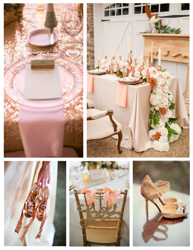 Wedded Delights In Rose Gold Hues