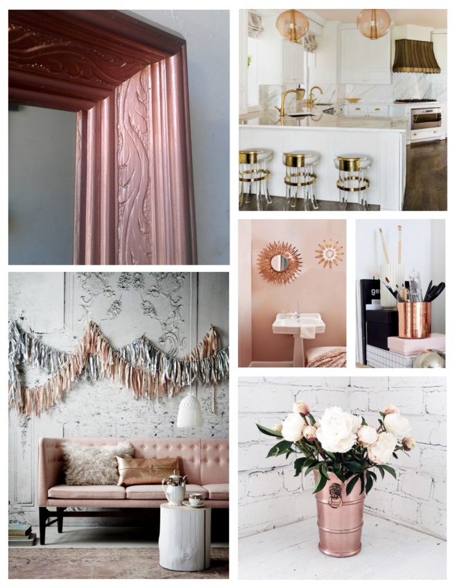 Metallic & Brilliant:  Rose Gold Hues
