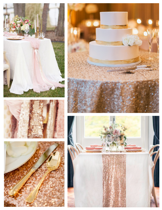 Captivating Rose Gold Hued Tabletops Of Celebration