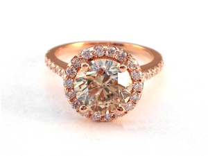 Stunning Jeweled Delight:  Rose Gold Ring