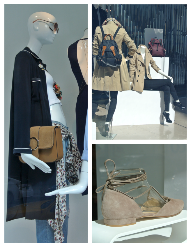 Neutral & Classic Appeal Behind Fashion's Window Panes