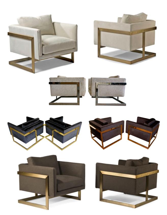 A Milo Baughman Design Classic:  The 1968 Cube Lounge T-Back Chair