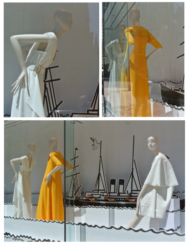 Vivid & White Delight Behind  The Fashionable Windows Of Max Mara