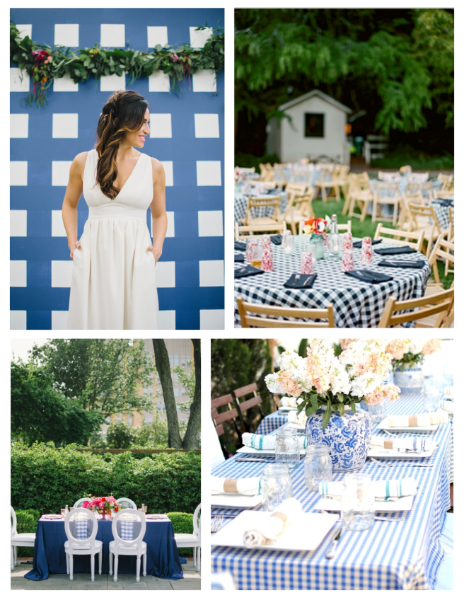 Wedding  & Entertaining  In Gingham Style