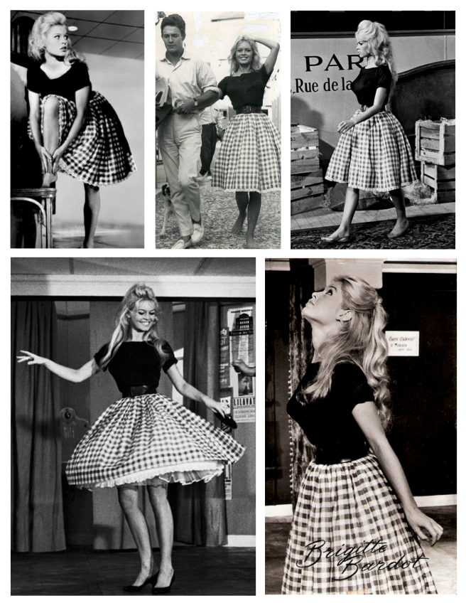 Brigitte Bardot (France/1959) Bedecked In Gingham
