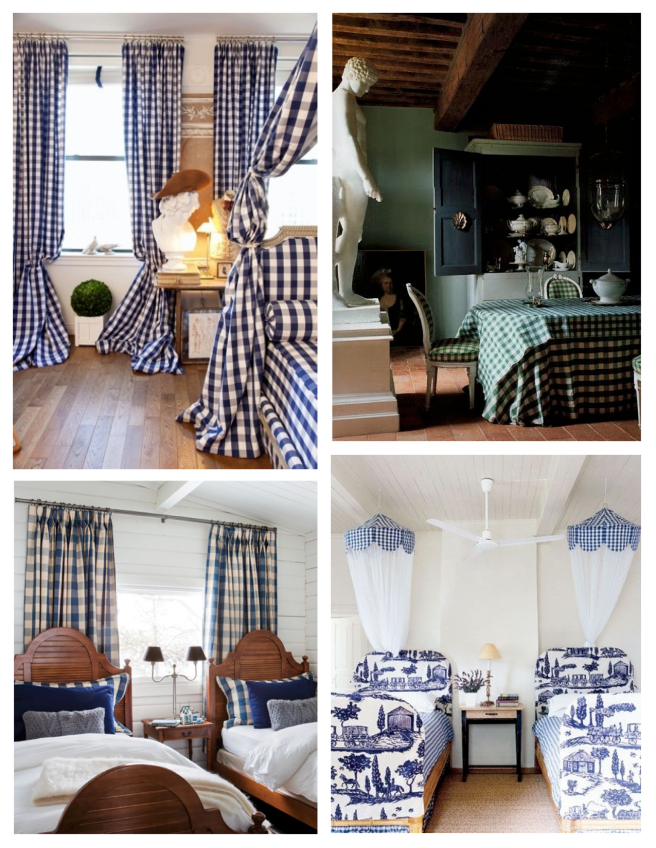 Interior Delights In Gingham Style