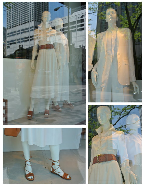 White & Brown Leather Paired With Warm Weather Appeal:  The Fashionable Windows Of Ralph Lauren
