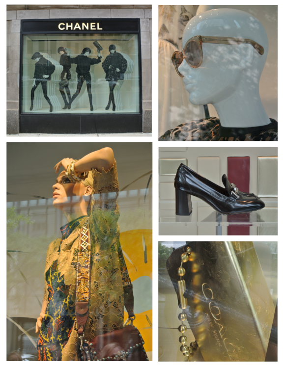 Fashionable Windows Of Chicago In July