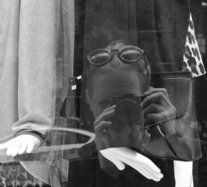 """""""Selfie"""":   Reflections Off Fashion's Windows In Chicago"""