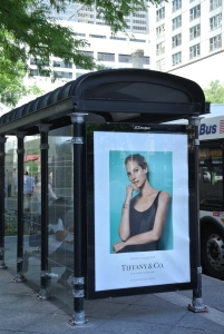 Fashionable Distinction On The City Streets:  The Iconic & Timeless Christy Turlington & Tiffanys