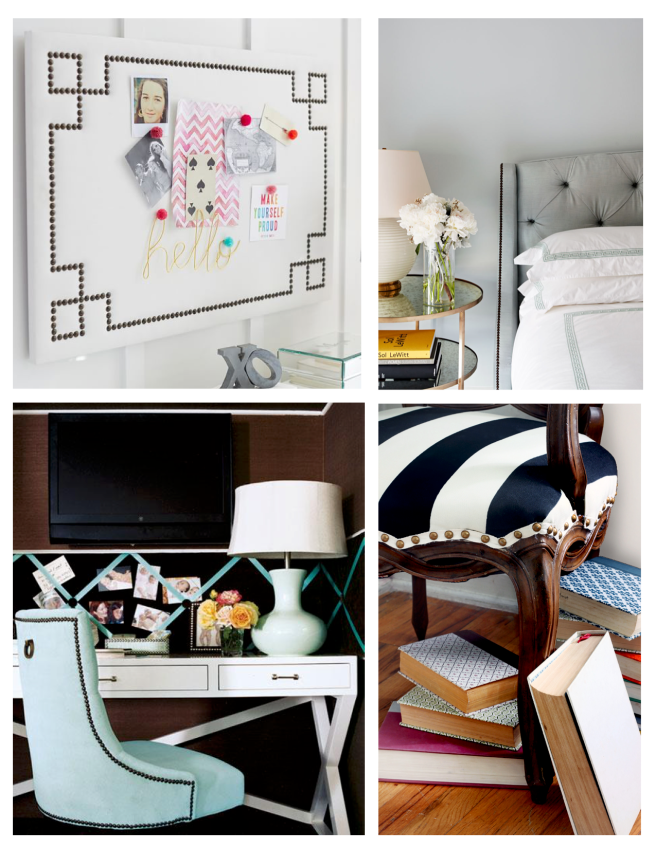 Styled With Metal:  Nailhead Trim Appeal