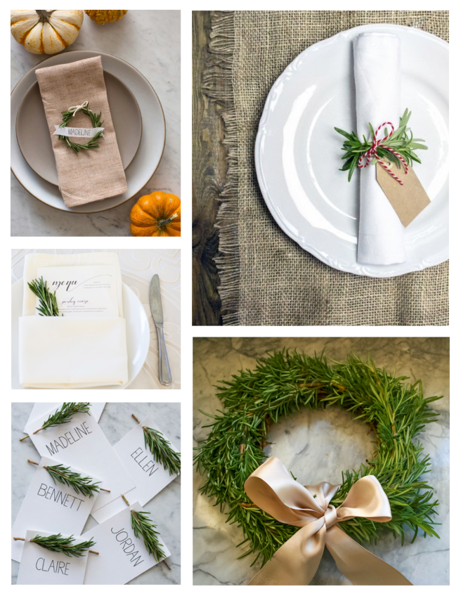 Tabletop & Decorative Delights In Sprigs Of Rosemary
