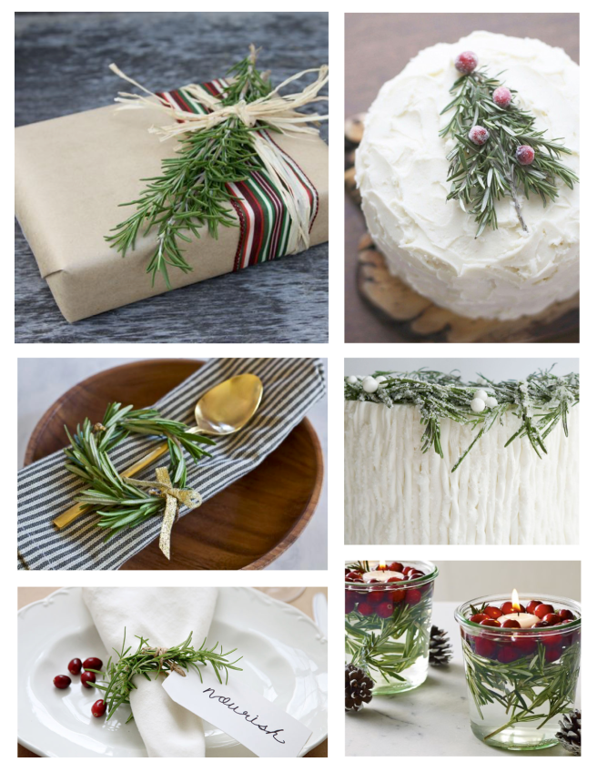 Holiday Embellishments With Rosemary